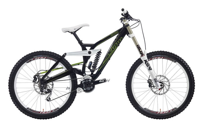 Kona DH Aluminum Frame With 200mm Of Rear Wheel Travel ...